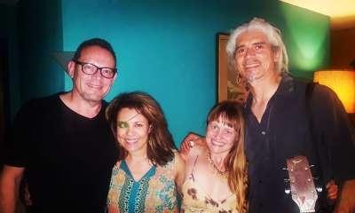 Carlos, Diana, Chrissie, me